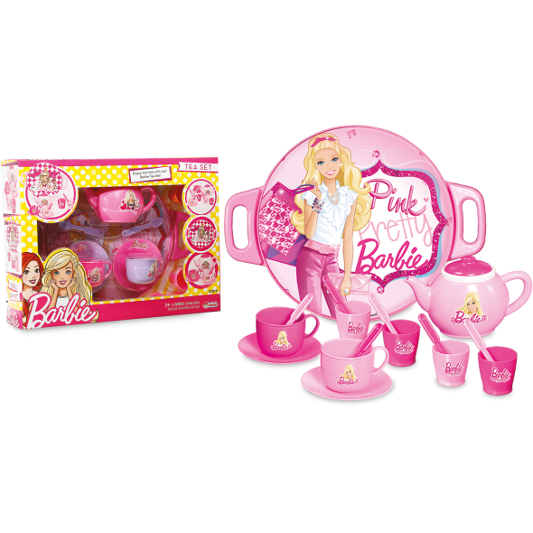 Barbie Tepsili Çay Set