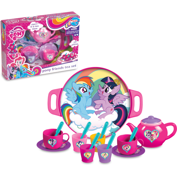 My Little Pony Tepsili Çay Set